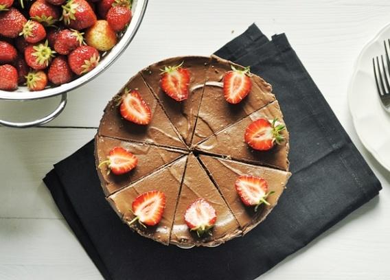 Mus czekoladowy na ciasteczkowym spodzie